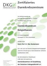 Certification of the German Cancer Society